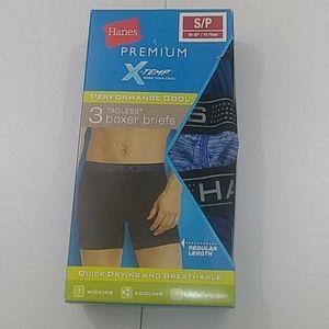 HANES PREMIUM X-TEMP MEN'S BOXER BRIEFS 3 PACK